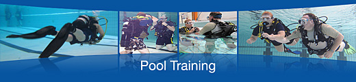 scuba dive training swimming pool