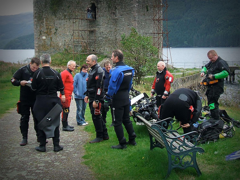 Carrick Castle Dive Preparation - C-Divers, Central Scotland Dive Club