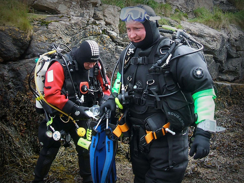Carrick Castle Pre-dive - C-Divers, Central Scotland Dive Club