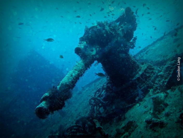 Deck-mounted Gun - SS Thistlegorm, Red Sea